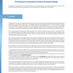Position paper of the Institut de l'économie circulaire on the European Commission's Circular Economy Package