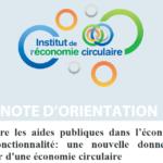 Note d'orientation | Inscrire les politiques publiques dans l'économie de fonctionnalité