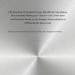 L'économie circulaire et ses bénéfices sociétaux | Des avancées réelles pour l'emploi et le climat dans une économie basée sur les énergies renouvelables et l'efficacité des ressources