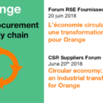 Circular economy : an industrial transformation for Orange – 4th CSR Suppliers Forum