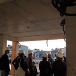 Visite d'un chantier en béton de chanvre pour les membres du Grand Paris Circulaire