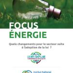 Focus INEC «Énergie et loi économie circulaire»